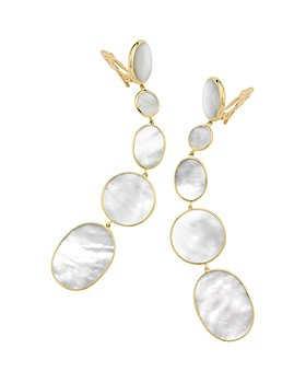 IPPOLITA - 18K Yellow Gold Polished Rock Candy Mother-of-Pearl Clip-On Graduated Drop Earrings