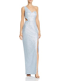 Aidan by Aidan Mattox - One-Shoulder Sequin Gown