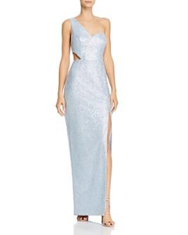 Aidan by Aidan Mattox - One-Shoulder Sequin Gown