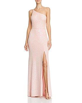 AQUA - Sequin One-Shoulder Gown - 100% Exclusive