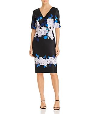Shadow Rose Faux-Wrap Dress