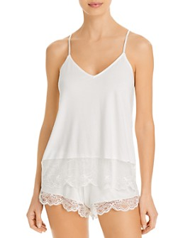 Eberjey - Carmela Coucou Laced-Trim Cami & Shorts