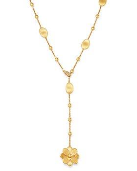 Marco Bicego - 18K Yellow Gold Petali Diamond Y Necklace - 100% Exclusive