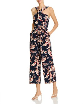 Joie - Trenity Cotton Printed Sleeveless Cropped Wide-Leg Jumpsuit
