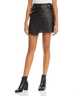 Joie - Leonna Leather A-Line Mini Skirt