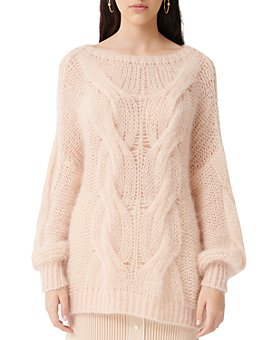 Maje - Morsade Oversized Cable-Knit Sweater