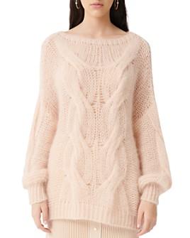 Maje - Morsade Oversized Cable-Knit Sweater