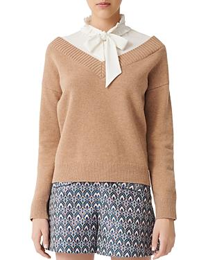 Maje Mirelle Layered Sweater-Women