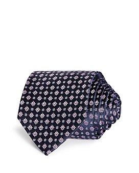 HUGO - Mini Square Florette Silk Skinny Tie