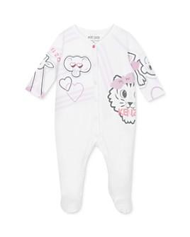 Kenzo - Girls' Cotton Tiger & Friends Footie Pajamas - Baby