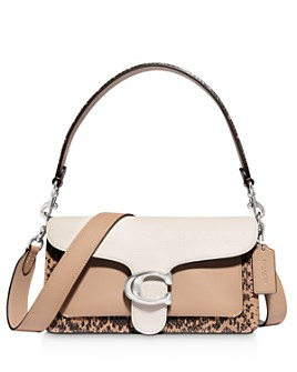 COACH - Tabby Color-Block Mixed Leather Shoulder Bag