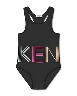 Kenzo - Girls' Large Logo One-Piece Swimsuit - Big Kid
