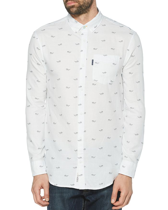 Original Penguin - Glasses Print Slim Fit Button-Down Shirt