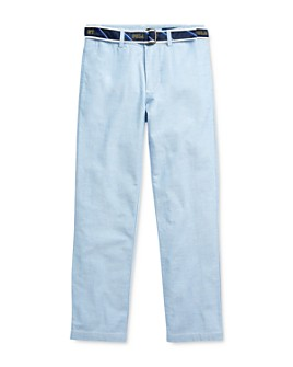 Ralph Lauren - Boys' Belted Oxford Skinny Pants - Big Kid