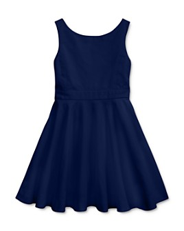 Ralph Lauren - Girls' Crossback Stretch-Cotton Dress - Little Kid