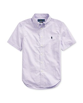 Ralph Lauren - Boys' Gingham Print Camp Shirt - Big Kid