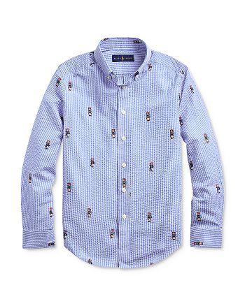 Ralph Lauren - Boys' Boating Bear Seersucker Shirt - Big Kid