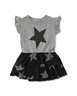 NUNUNU - Unisex Cotton Layered Star Bodysuit - Baby
