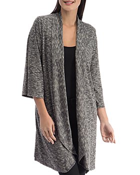 B Collection by Bobeau - Ellen Waterfall Ribbed Cardigan