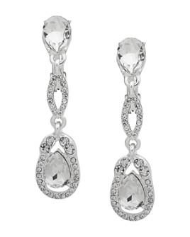 Ralph Lauren - Crystal Teardrop Clip-On Drop Earrings