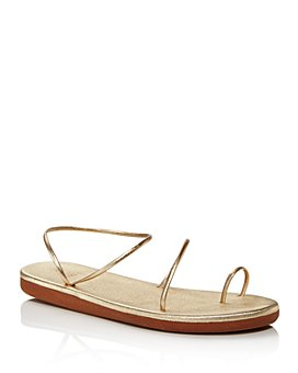 Ancient Greek Sandals - Women's Kansiz Barely There Strappy Toe-Ring Sandals