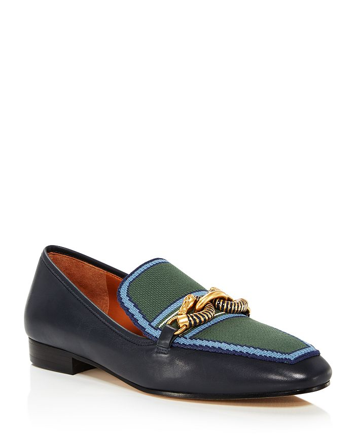 Tory Burch - Women's Jessa Pointed-Toe Embellished Loafers
