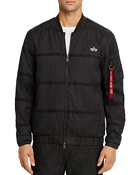 Alpha Industries - Parachute Textured Taped Slim Fit Full-Zip Utility Jacket