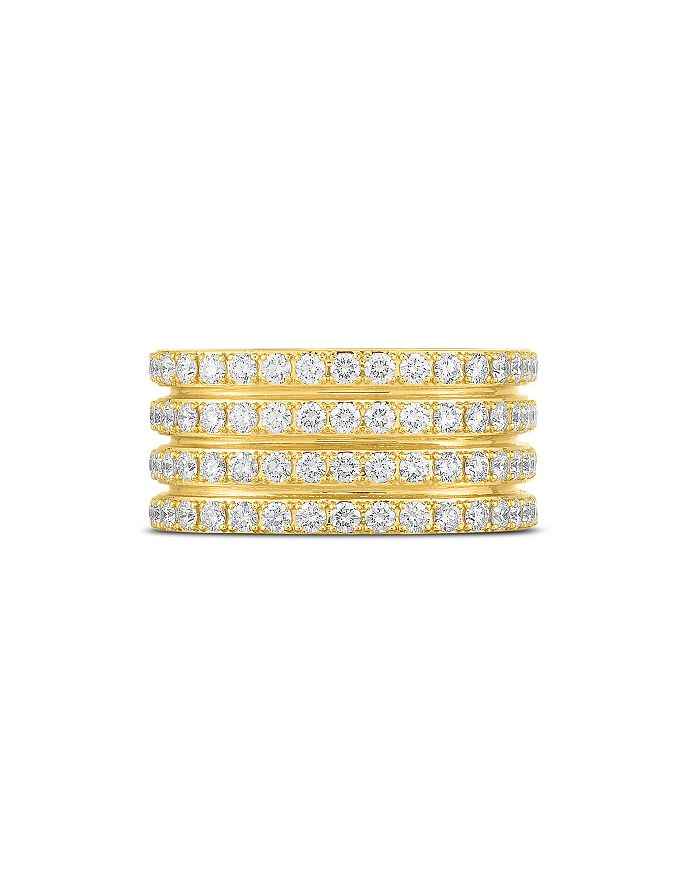 Roberto Coin - 18K Yellow Gold Portofino Diamond Multi-Row Ring