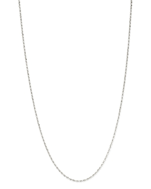 Bloomingdale's Solid Rope Link Chain Necklace in 14K White Gold - 100% Exclusive