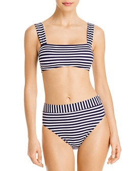 Splendid - Never Enough Bandeau Bikini Top & Never Enough High-Cut Bikini Bottom