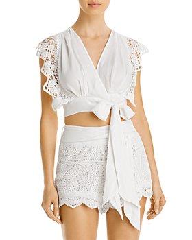 Surf Gypsy - Crochet Tie Top & Crochet Tie Shorts Swim Cover-Ups