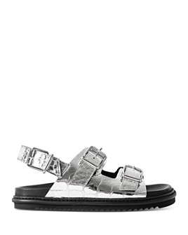 Zadig & Voltaire - Crocodile-Embossed Slingback Sandals