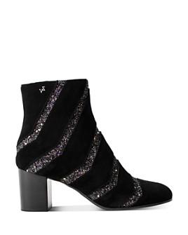 Zadig & Voltaire - Women's Glitter-Striped Suede Boots