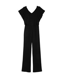 AQUA - Girls' Ruffled-Sleeve Jumpsuit, Big Kid - 100% Exclusive