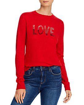 AQUA - Embellished Merino Sweater - 100% Exclusive