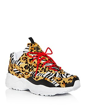 FILA - Women's Ray Tracer Animal-Embossed Low-Top Sneakers