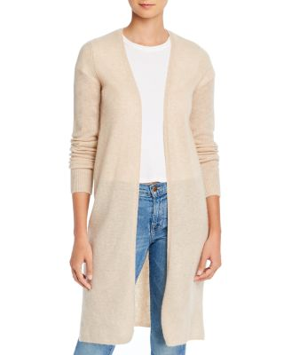 Minnie Rose Womens Cotton//Cashmere Striped Hoodie Duster