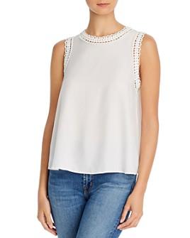 Cinq à Sept - Ellina Silk Sleeveless Embellished Top