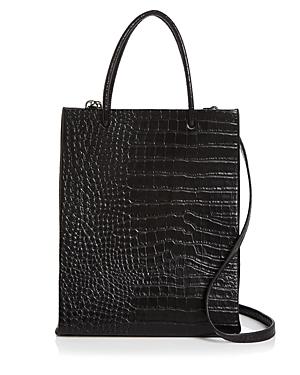 Aqua Large Croc Shopper Tote - 100% Exclusive-Handbags