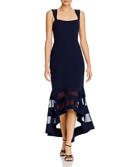 AQUA - AQUA Double-Strap Illusion-Hem Midi Dress - 100% Exclusive