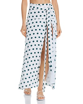 Peony - xPolka Dot Slit Skirt Swim Cover-Up