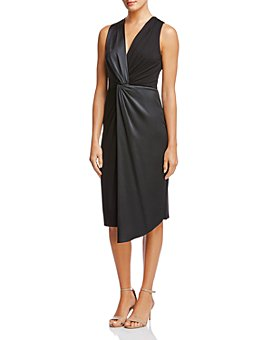 Bailey 44 - Venus Twist-Front Mixed-Media Dress