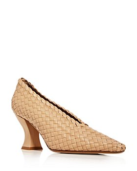 Bottega Veneta - Women's Woven Square-Toe Pumps