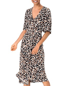 Leota - Giraffe Print A-Line Dress