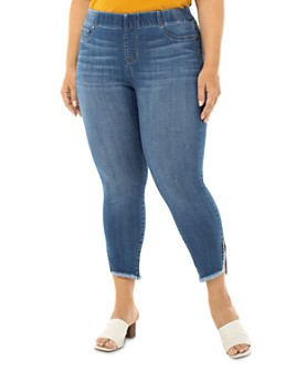 Liverpool Los Angeles Plus - Chloe Pull-On Skinny Cropped Jeans in Stillwell