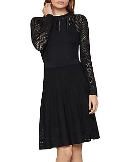 BCBGMAXAZRIA - Pointelle Sweater Dress