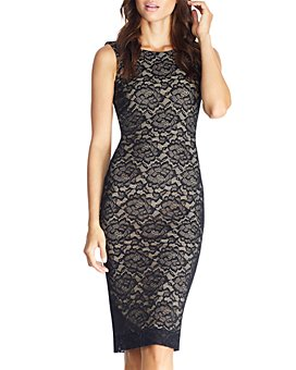 Dress the Population - Kendra Lace Sheath Dress