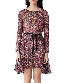 Maje - Relana Silk Floral Print Mini Dress