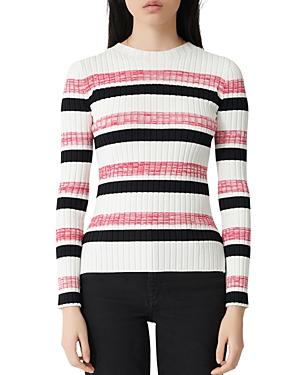 Maje Manuel Striped Rib Knit Sweater