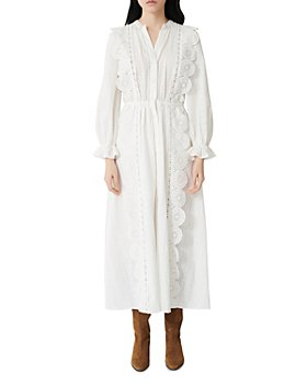 Maje - Midi Dress with Eyelet Lace
